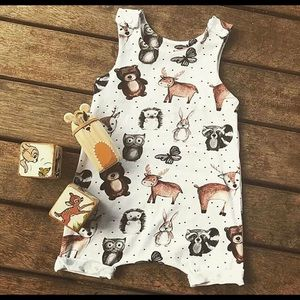 Animal romper Christmas outfit or fall 24 months
